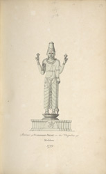 Statue of Vurdarajah Swamy in the Pagoda of Muddoor 1799